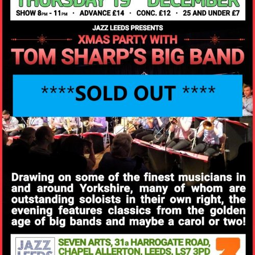 tom sharp xmas online flyer sold out